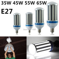 E27 35W 45W 55W 65W LED Corn Light Bulb Industrial Lighting AC85 265V Cool White/Warm White High Power Lamp Free Shipping