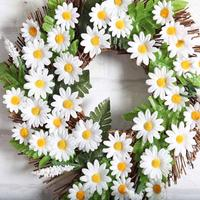 Christmas Decorations For Home 2017 Sunflower Wreath 30cm Garland Window Door Decorations Ornament Hot White Green