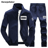 NaranjaSabor 2017 Spring Autumn Men S Clothing Suits Male Clothing Set Casual Sweatshirts Pant Men Brand
