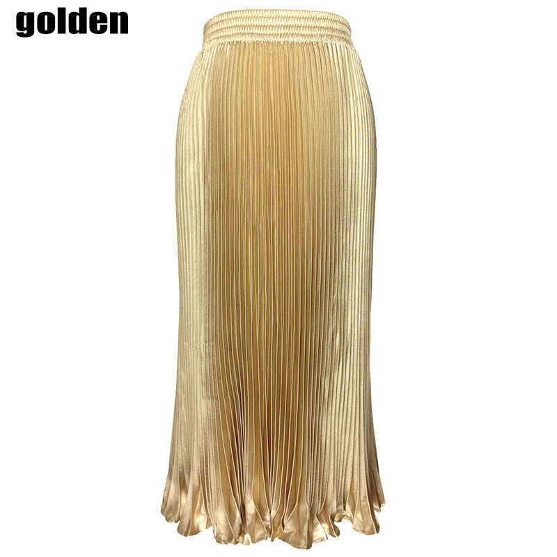 4ebd2d7b4 ... Design Maxi Skirts womens Women Pleated Solid High Waist Long Skirt  Elegant Ladies Black Gold Silver ...
