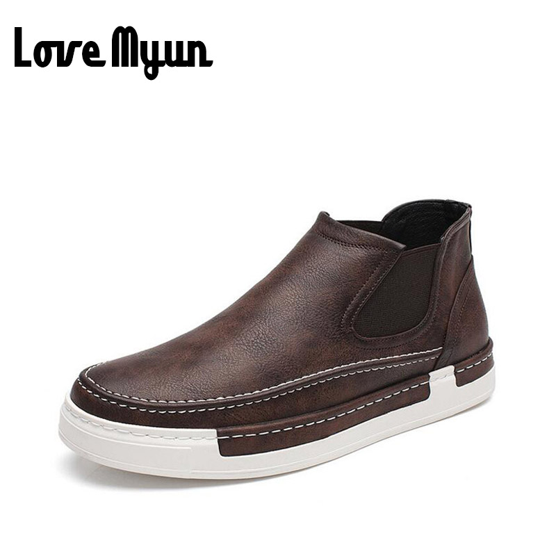 brand new spring men fashion Loafers Breathable shoes high top slip on casual flat shoes soft leather lightweig shoes WB-53 new 2015 spring brand camel fashion leisure men low flat wear resisting high quality leather high end shoes with box