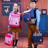 2pcs/set School Bag for kids Backpack Boys Girls cartoon Backpacks Primary Grades 1 3 Students Backpacks Waterproof Schoolbag