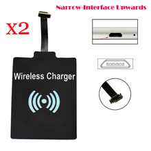 newCARPRIE Hot Product 2Pcs Universal QI Wireless Charging Receiver Charger Module For Micro USB Cell Phone Drop Shipping(China)