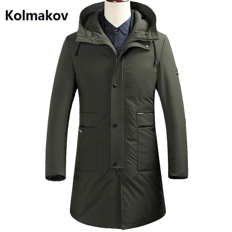 KOLMAKOV 2017 winter Mens down coats casual 90% white duck down down coats jackets Mens thicken down jacket trench coat