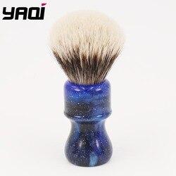 24MM Yaqi misterioso espacio Color manejar dos bandas tejón pelo nudo hombres cepillos de afeitar