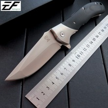 Eafengrow EF05 camping knives 9Cr18Mov steel blade+G10 handle folding knife utility EDC tool tactical survival outdoor Knife