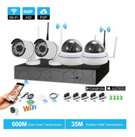 4CH CCTV System Wireless 960P NVR 4PCS 1 3MP IR Outdoor Indoor P2P Wifi IP CCTV