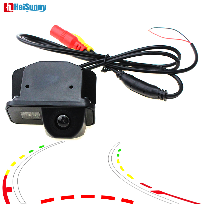 Car Reverse Backup Rear View Camera Dynamic Trajectory Line For TOYOTA COROLLA/VIOS 2007 2009 2010 2011 2012 2013 Night Vision image