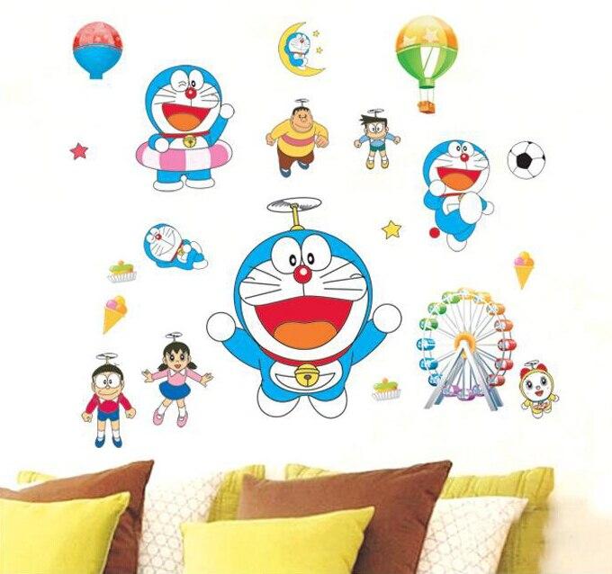 cartoon doraemon gift wall sticker home decoration wall decals for