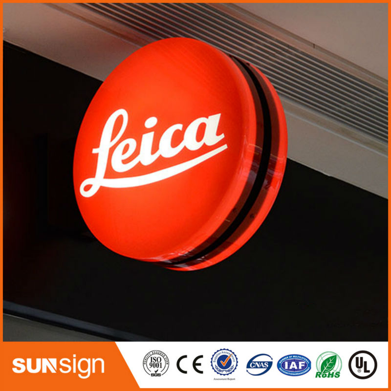 Custom Lighted LED Sign Box Stainless Steel LED Light Box Letters