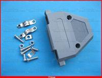 10 adet D-Sub Hood Kapak Plastik Kabuk 37Pin için 2 Satırlar DIP D-Sub Bağlantı