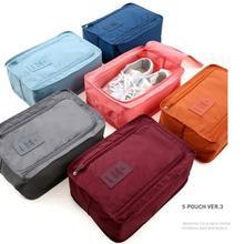 450 sztuk wygodne akcesoria rodzinne Mini etui podróżne etui do przechowywania łatwy zamek torba wodoodporne buty do prania organizator pudełka tanie tanio Torby do przechowywania Składane Oxford Zestaw SALON WLIYI Płaska k6523 Trójwymiarowe SQUARE 30*21*11 5cm Dustproof