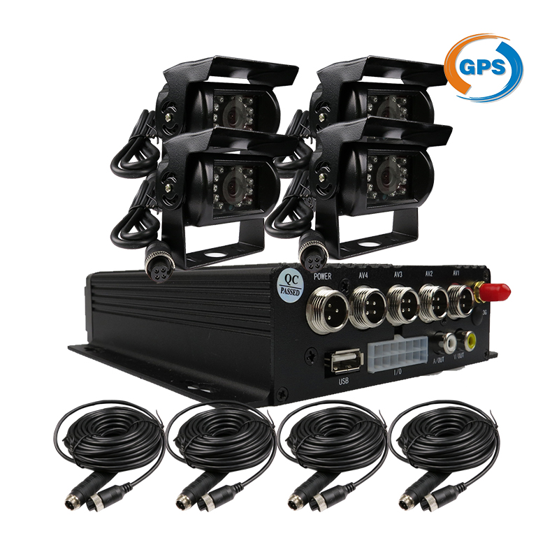 FREE SHIPPING 4CH GPS Track H.264 I/O SD Car Mobile DVR Recorder MDVR Cycle Record Rear Side Front View Car Truck Camera System free shipping 4ch gps 3g track h 264 i o 256gb sd car mobile dvr recorder mdvr realtime monitor for phone pc for truck van