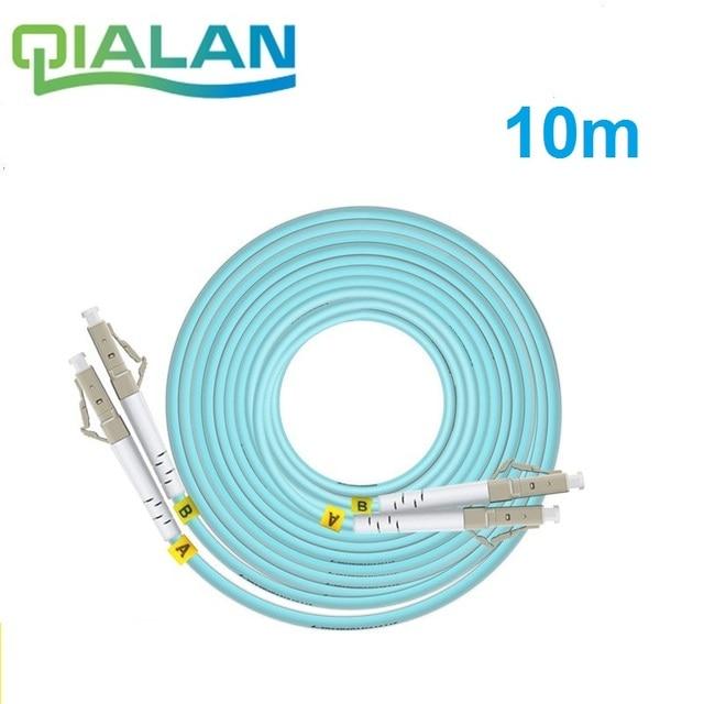 OM3 10 m LC SC FC ST UPC Duplex de Fibra Óptica Patch Cable Jumper 2 Core Patch Cord Multimodo 2.0mm Patchcord Fibra Óptica