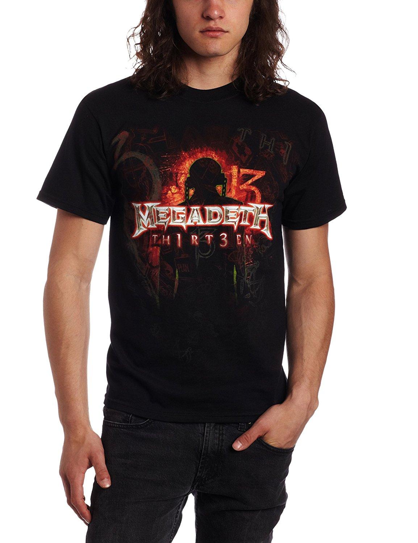FEA Merchandising Mens Megadeth Th1rt3en T-Shirt