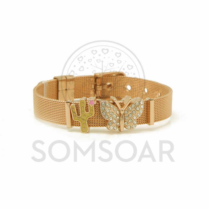 Somsoar Jewelry Hoodia Gordonii Mesh Bracelet Bangle Set With