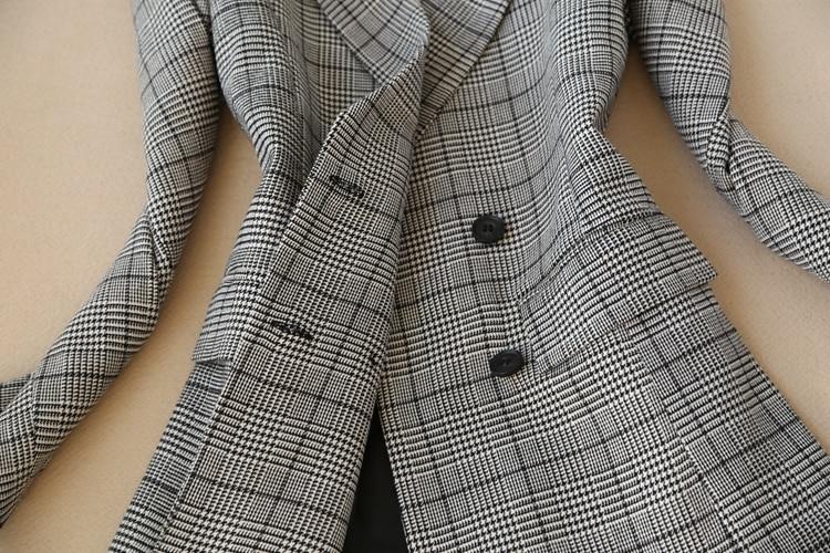2019 Élégant Picture Et Blazer Long Boutonnage Printemps As Motif Jupe Ol Femmes Double Ensemble Moyen Haut À Carreaux rErSqxvT