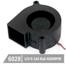 2Pcs Gdstime 12V Ball Bearing 60mm 6cm 6028 Blower Fan PC Cooler Cooling 60x28mm DC Brushless Turbo
