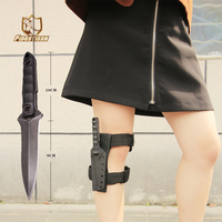 D2 Fixed Blade Camping Survival Diving Leggings Hunting Knife Blade Tactical Double Serrated Knifes Zakmes Tools