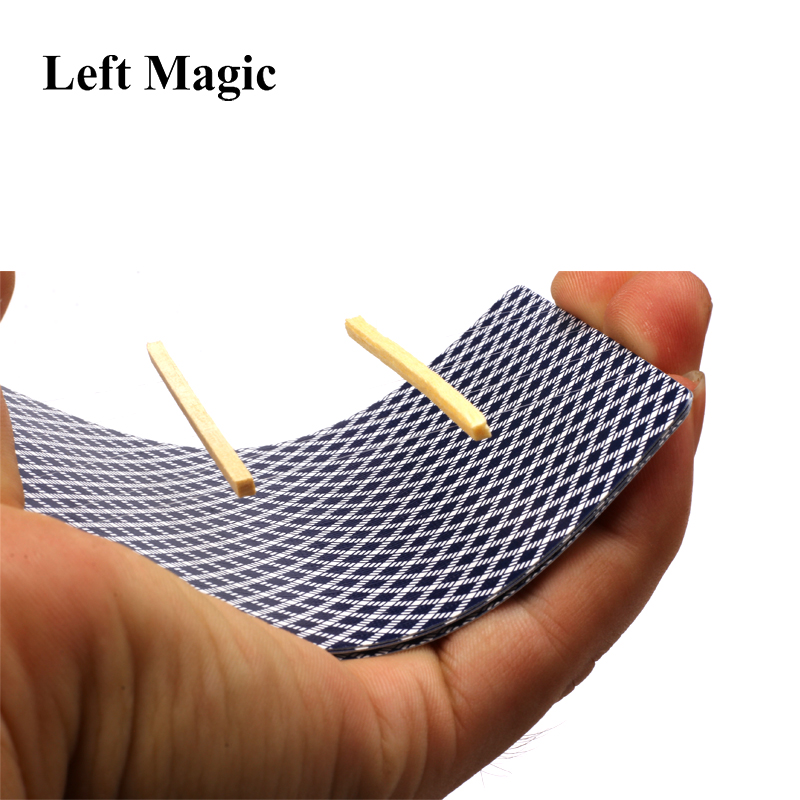 5 PCS/Lot Funny Air Floating Magic Tricks Floating Match On Card  Close Up Magic Magician Toothpick Matches Floating Props