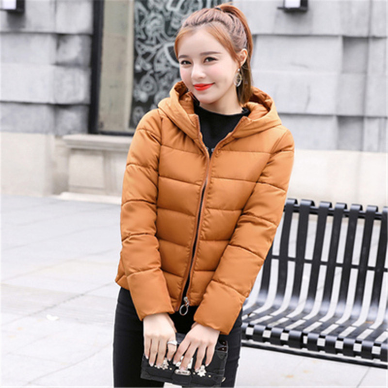 2018 Now Autumn Winter Women   Basic     Jacket   Coat Female Slim Hooded Brand Cotton Coats Casual Black   Jackets   Warm Plus Size Jacke
