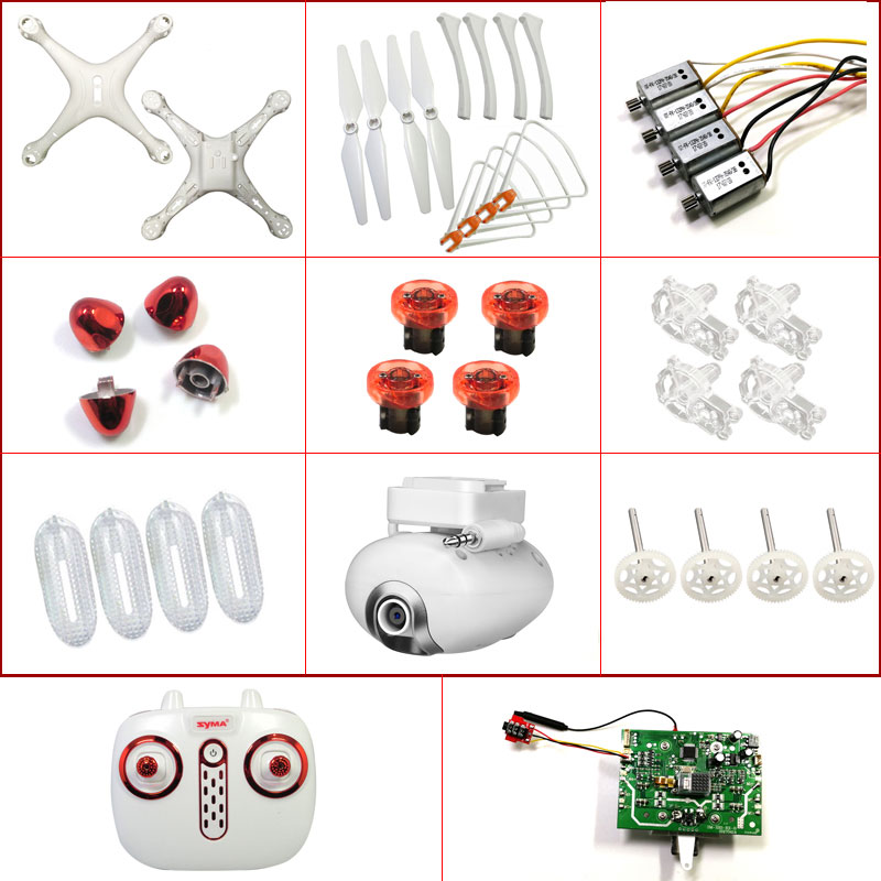 RC Drone Spare Parts SYMA X8SW X8SC X8PRO Motor Gear Propellers Blades Main Body Landing Gear Camera Circuit Board Controller