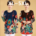 5XL plus size women clothing XL,2XL,3XL,4XL,5XL long sleeve cashmere sweater flower print big size women's sweaters pullovers