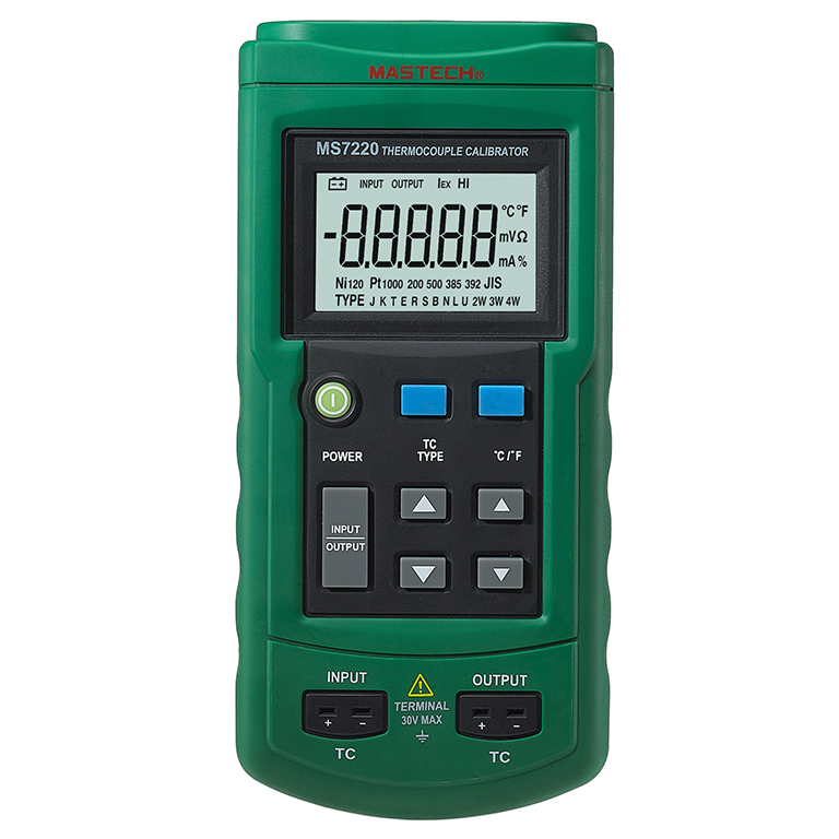 MASTECH MS7220 THERMOCOUPLE CALIBRATOR compared with 714  детектор mastech ms6810