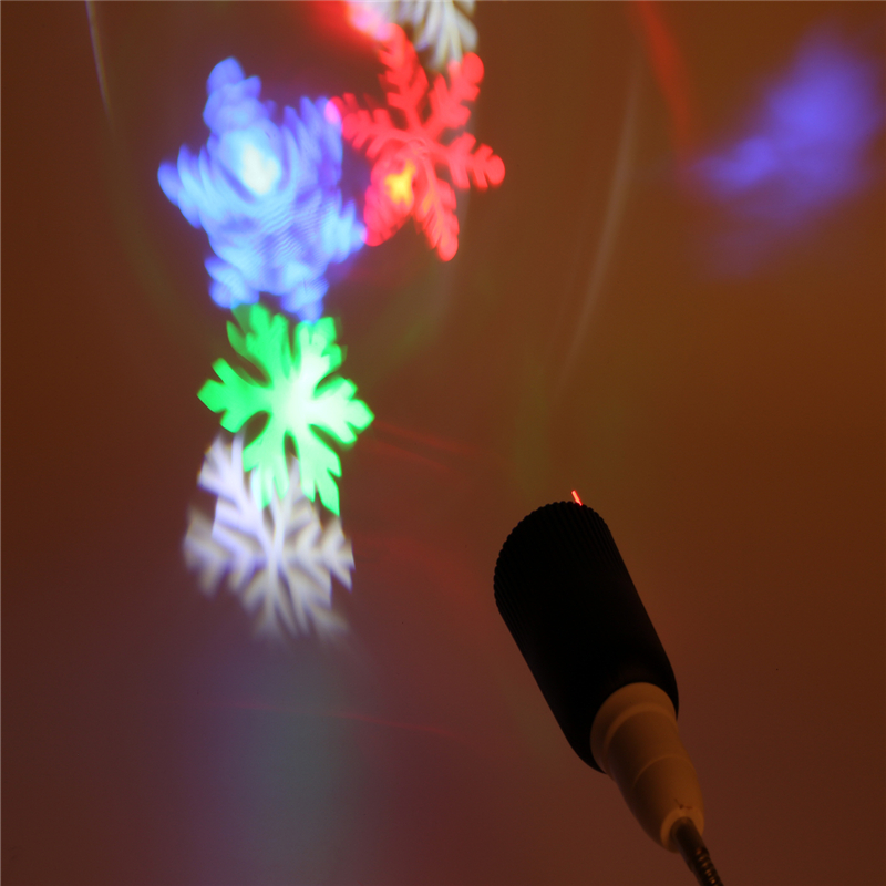 E27 4W RGB Disco DJ Stage Light Bulb laser fairy light projection projector lamp New year chrismas decoration for home KTV Xmas