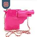 Mulheres saco transversal do corpo acrílico gun forma evening bag marca designer mini lady bolsa cadeia bolsas de ombro