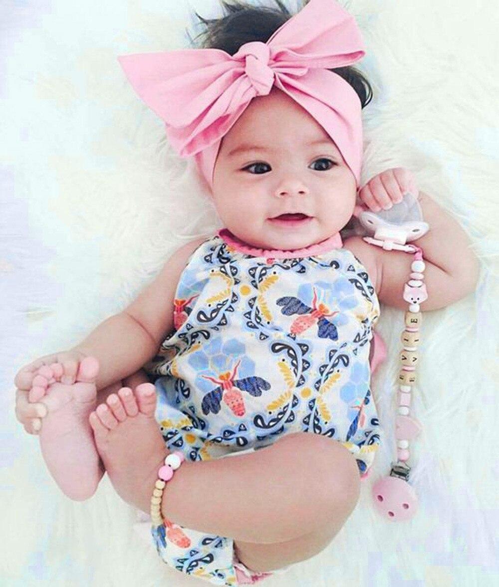 2Pcs Baby Girls Infant Floral Toddler Jumpsuit Romper ...