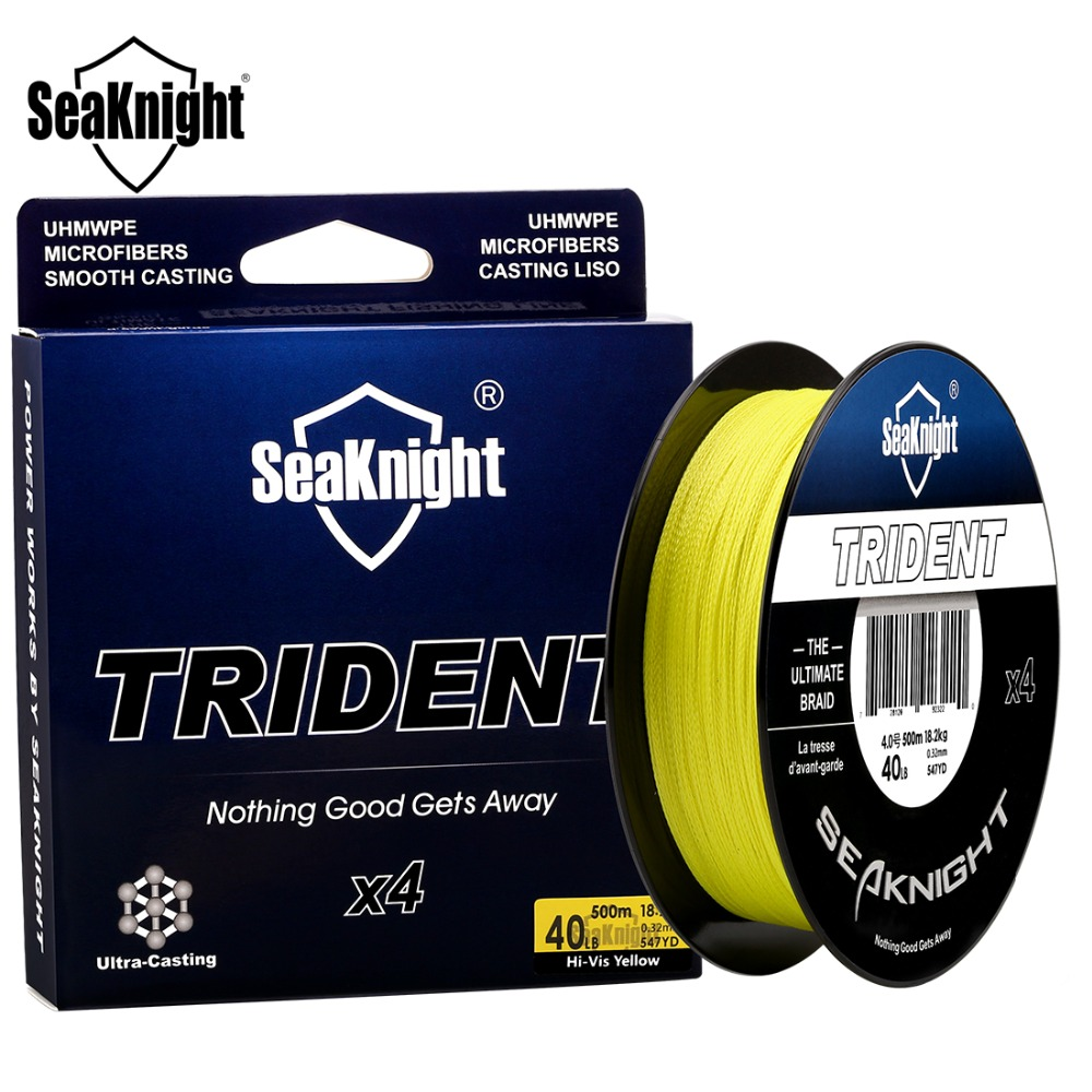 SeaKnigt TRIDENT 300M 500M 1000M Japan Material Braided Line 4 Strand Fishing Line Multifilament Professional Saltwater Fishing