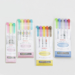 3pcs 5pcs set japanese stationery zebra mild liner double headed fluorescent pen hook pen color mark.jpg 250x250