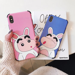 Luxury Brand Case for iPhone X Case iPhone XR XS MAX 6 S 7 8 Plus Cartoon Crayon Shin Chan Japan Soft Silicon Cover Phone Coque 1