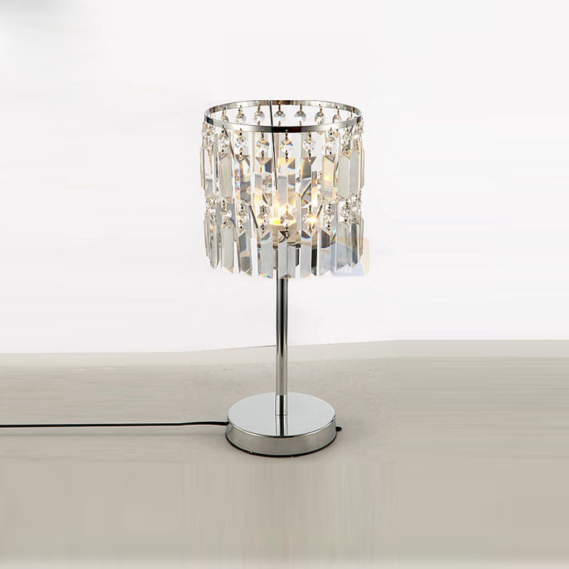 "Modern Crystal Hanging Bedroom Desk Lamps Luxury Living Room D7"" x H18.1"" Study Room table Light Reading Room Table Lamp Fixture"