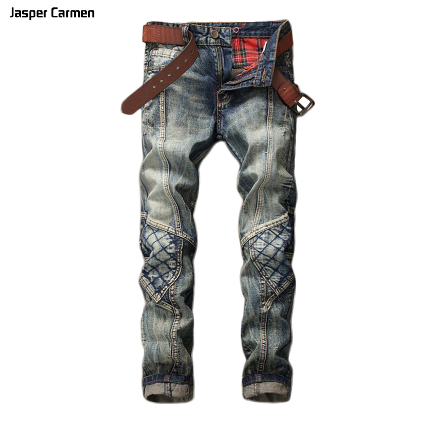2017 NEW Spring Summer Mens Denim fashion Fit Straight Jeans Pants Thin Blue Classic Cowboy Trousers Large Plus Size 28-38 74z new printing jeans men s slim feet pants korean flower pants nightclubs hairdressers thin style summer mens trousers size 28 38