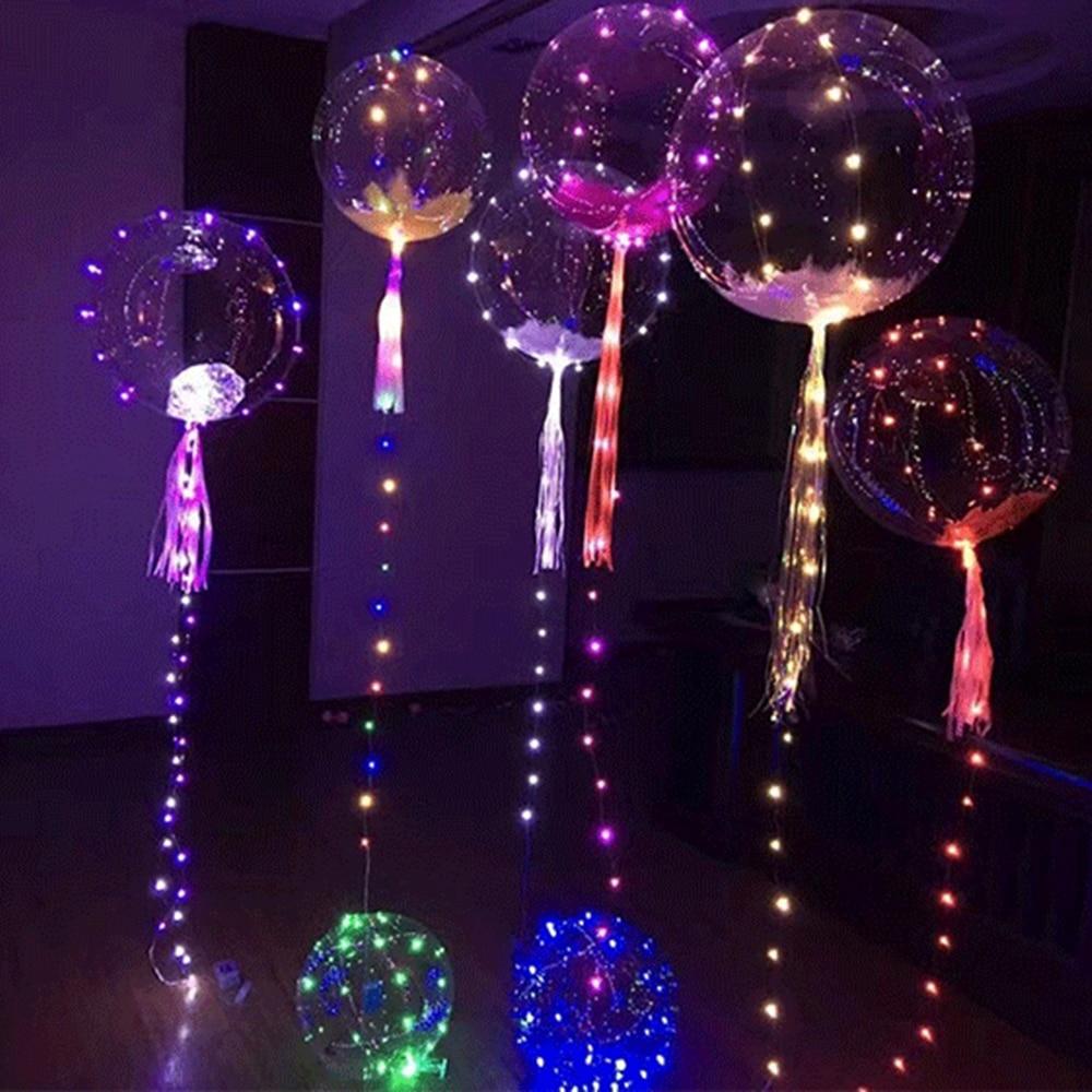 BORUiT 3M 30 LED cuentas globo de aire cadena luces al aire libre Navidad luces Año Nuevo decoración boda vacaciones noche luces DIY Hut vacaciones tiempo hecho a mano modelo creativo hecho a mano juguetes de construcción regalo de cumpleaños de las niñas