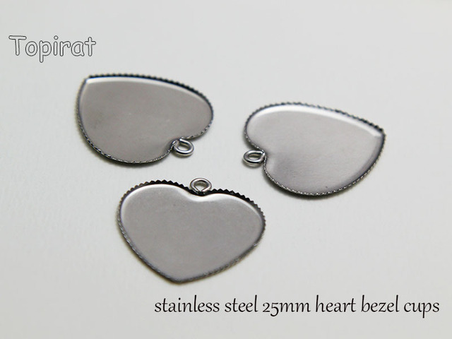50pcs 316l stainless steel 25mm heart cabochon settings jewelry 50pcs 316l stainless steel 25mm heart cabochon settings jewelry tray pendant bezel blanks mozeypictures Image collections