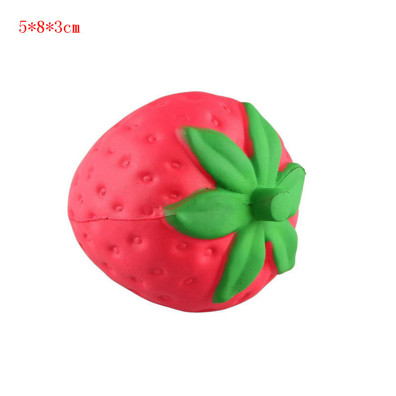 Huge Squishy Strawberry 19.5cm Kawaii Cute Soft Giant Solw Rising Toy With Packi
