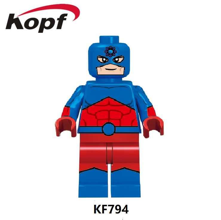 Строительные блоки Супер Герои Гладиатор Atom капитан Atom черный Adam Доктор Свет Сталь Vixen фигурки для детей игрушки KF6079