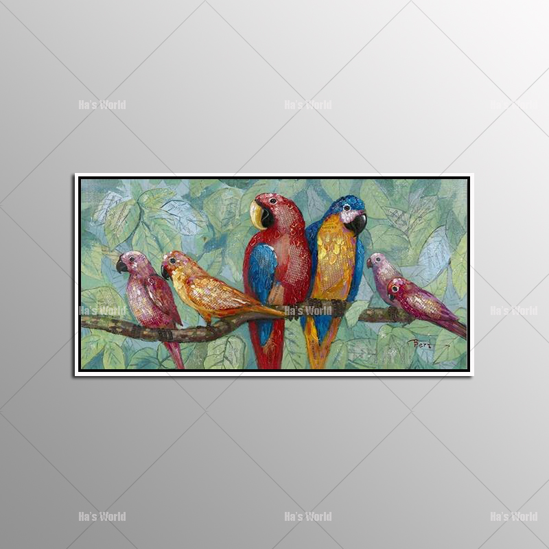 Animal Wall Art Elephant Zebra Abstract Parrot Hand Painted Oil Painting On Canvas Printing Home Decor