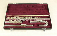 Jupiter JFL 5011E Small Curved Heads C Tune Flute 16 Keys Holes Closed Flutes Silver Plated Flauta with Case Free Shipping