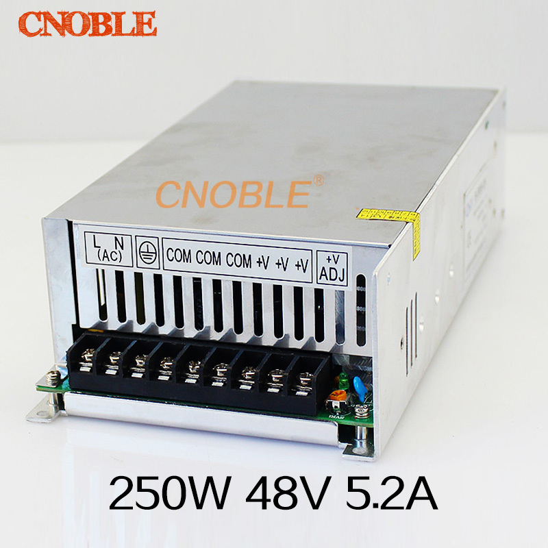 250W 48V 5.2A Single Output Switching power supply for LED Strip light AC to DC ac 85v 265v to 20 38v 600ma power supply driver adapter for led light lamp