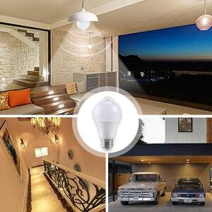 Image 3 - 12 واط 18 واط PIR مصباح إضاءة LED مزوّد بحسّاسات الحركة E27 B22 أمبولة LED مصباح ذكي السيارات قبالة/على IP42 ليلة مصباح داخلي في الهواء الطلق الأمن