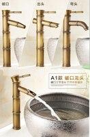 The Whole European Antique Copper Faucet Retro Bamboo Single Hole Basin Leading Art Basin Stage Basin