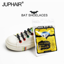 3 Sets 36 Pcs Bat Laces Multicolor Unisex Design Sports Running Without a Tie Elastic Silicone Shoe -type Shoelaces