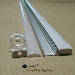 10-40 مجموعة/وحدة ، 20-80 متر 2 متر/80 بوصة طول مواسير ألومنيوم للمبات الليد ل led مصباح بار ، 12 ملليمتر قناة الالومنيوم الضوئية من ليد ، قطاع الإسكان