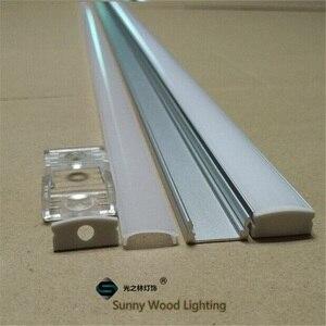 Image 1 - 10 40 סט\חבילה, 20 80m 2m/80 אינץ אורך led אלומיניום פרופיל עבור led בר אור, 12mm led רצועת אלומיניום ערוץ, רצועת דיור