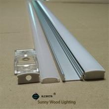 10 40 компл./Лот, светодиодный алюминиевый профиль длиной 20 80 м, длиной 2 м/80 дюймов для светодиодной панели, 12 мм фотоэлемент, корпус полосы
