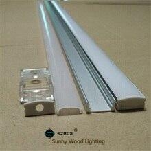 10 40 set/lote, 20 80m 2m/80 pulgadas de longitud Perfil de aluminio led para barra de luz led, 12mm canal de aluminio con tira led, carcasa de tira